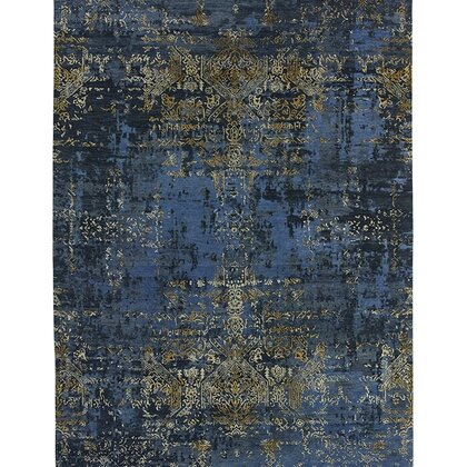 LUXURY RUG ELITE NAVY BLUE GOLD