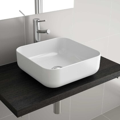 Countertop basin DOLCE 390 WHITE PORCELAIN