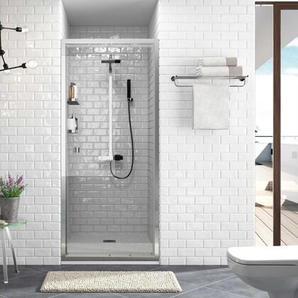 Shower screen HABITAT frontal with pivoting hinged door Transparent