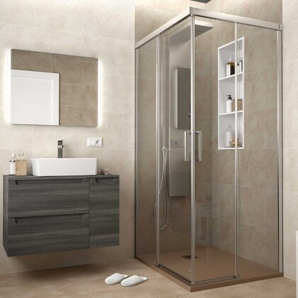 Shower screen COPENHAGUE Corner enclosure with 2D and 2FS Transparent