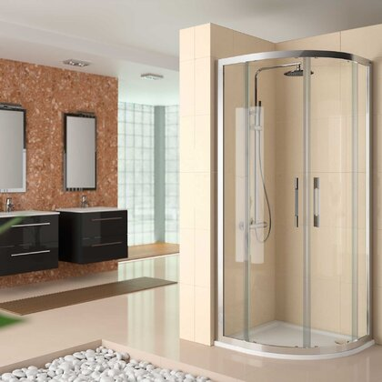 Shower screen CLEAR rock curve Transparent