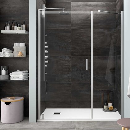 Shower screen MALMÖ fixed frontal Transparent