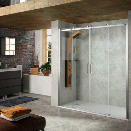 Shower screen HELSINKI Frontal with 2D and 2F Transparent