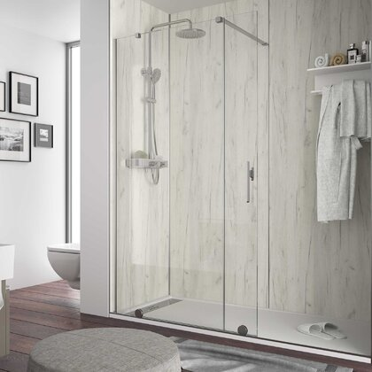 ATLAS Arctic Oak shower panel 4 x 1220 x 2400 mm
