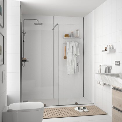 ATLAS White Rioja shower panel 4 x 1220 x 2400 mm