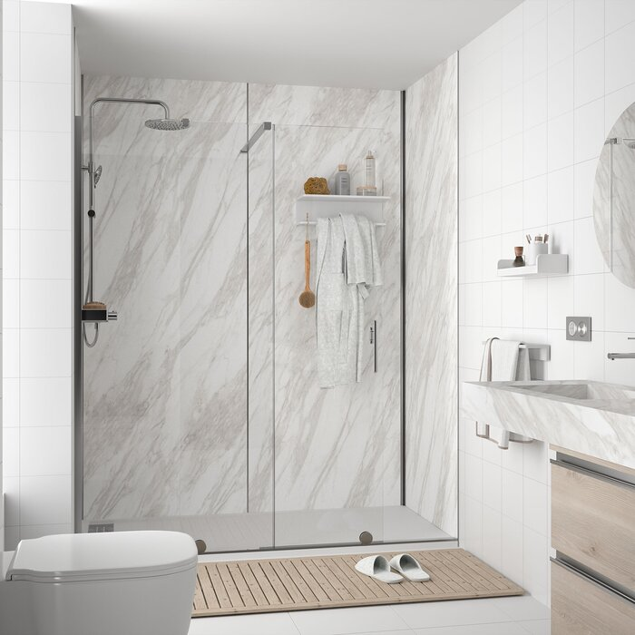 ATLAS shower panel White marble 4 x 1220 x 2400 mm
